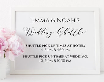 Wedding Shuttle Service Sign, Editable Shuttle Wedding Printable, Shuttle Service Printable. Wedding Reception Sign. Instant Download. WC3