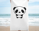 Towel with Panda Design...