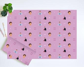 Chuck Bass Wrapping Paper | Chuck Bass Gift Wrap | Gossip Girl Wrapping Paper | Gossip Girl Gift Wrap | Chuck Bass Birthday
