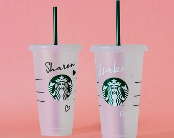 Personalised Starbucks Inspired Cup, Personalised Starbucks Cold Cup, Reusable Starbucks Cup, Custom Starbucks Cup, Personalised Coffee Cup