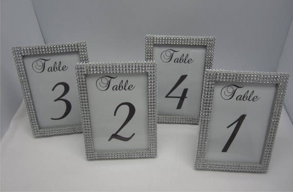 2efeba9bd371 5 x 7 Set of (27) Table Frames Rhinestones - Wedding or Special Event. Table    s not included