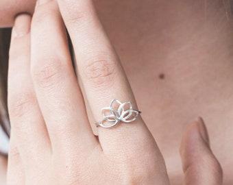 Lotus Flower Ring Etsy