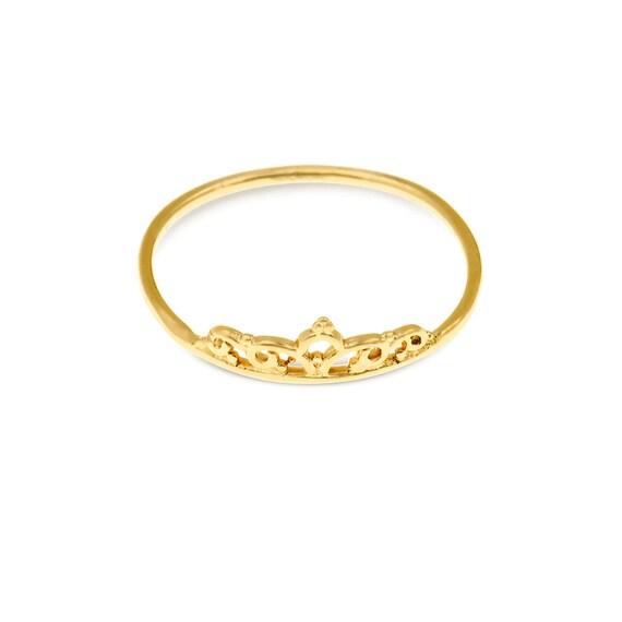 Prinzessin Krone Ring Tiara Ring Prinzessin Tiara Ring Etsy