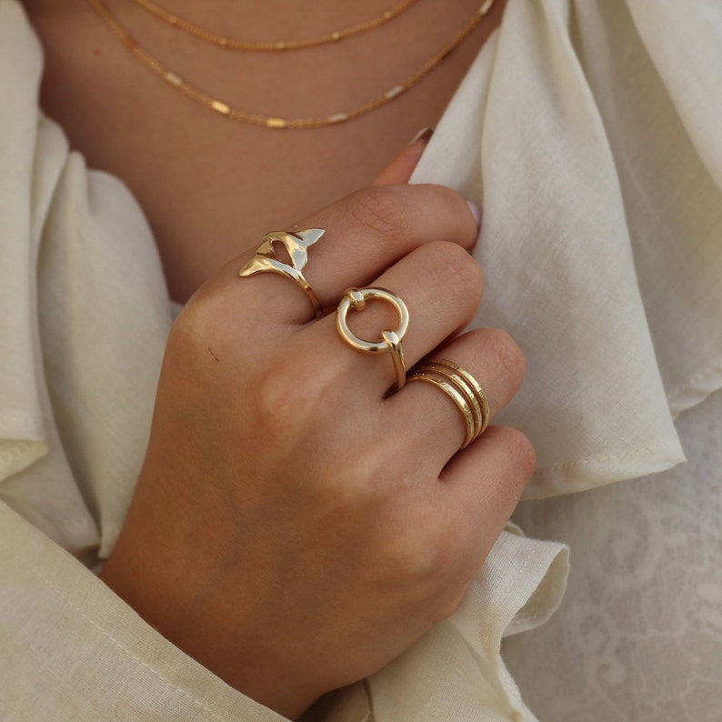 799cc8a7b9df6 Open Circle Ring, Geometric Ring, Casual Gold Plated Ring For Women, Dainty  Gold Ring, Stylish Ring, Bohemian Ring, Simple Gold Ring