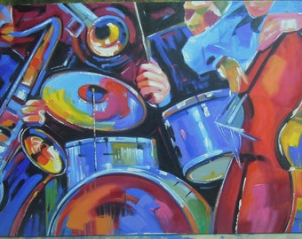 """The Band Reproduction painting oil painting on canvas 32""""X48"""""""