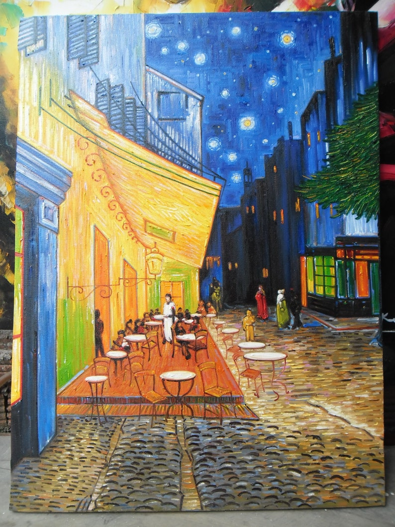 Cafe Terrace la nuit Vincent van Gogh Peinture à lhuile | Etsy