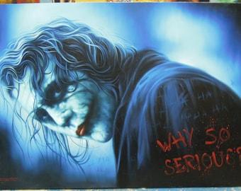 "Joker painting oil painting on canvas 32""X48"""