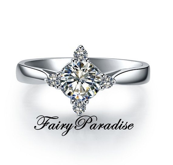 Star Shaped Ring Petite Promise Ring Unique Engagement Ring Etsy