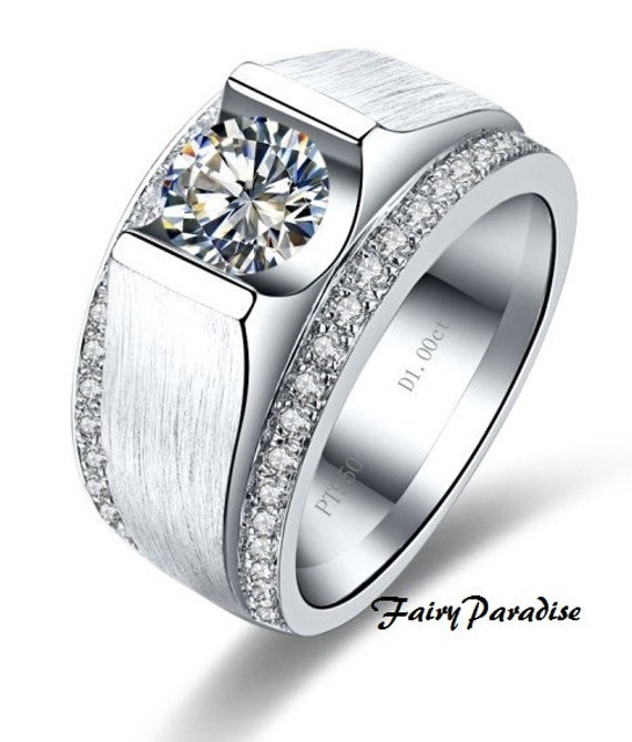 2 Carats Male Wedding Band Man Promise Ring Anniversary Etsy