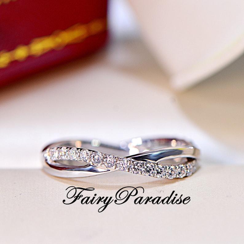 Twisted Infinity Wedding Band with Man Made Diamonds Wedding  e6da246e2d