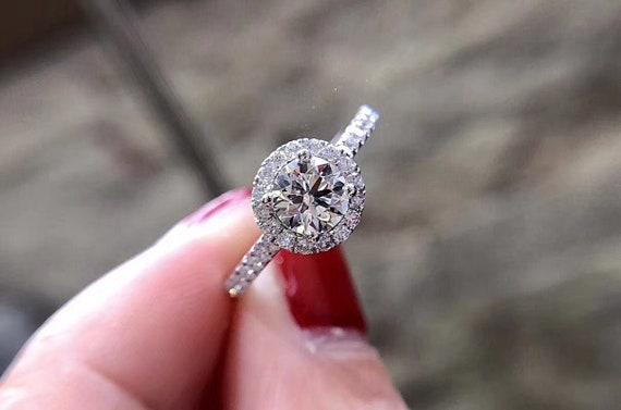 Sterling Silver 1 Ct Créé cristal cœur pavé de mariage