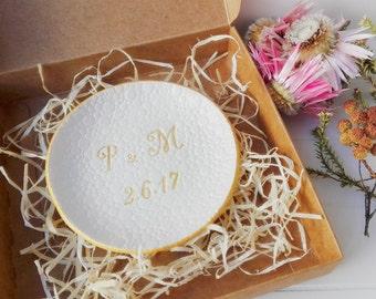 Porta anillos personalizado, porta anillo compromiso, mejores regalos para amigas, soporte anillo boda, bol porta anillo, plato anillo boda