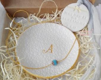 Caja regalo damas Regalos compromiso plato Damas caja proposición Regalos damas a novia  Dama honor hermana regalo, fiesta novia
