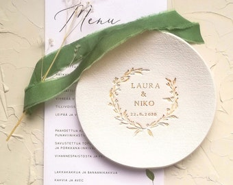 Wedding ring dish, wedding ring bowl , Wedding ring holder for ceremony   Engagement ring dish    personalized ring dish    trinket dish