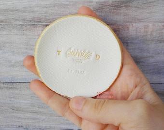 Plato customizado, plato novia, plato dama honor, plato compromiso, boda soporte anillo, regalo recien prometida