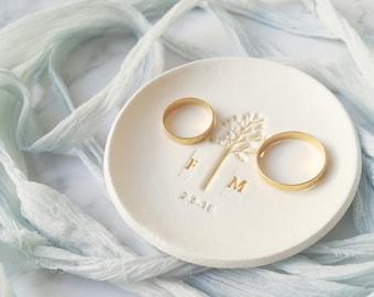 Soporte anillo boda, Plato compromiso, Tazón anillo, Plato anillos boda, Regalo compromiso, Plato baratija boda, soporte anillo novia