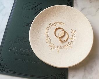 Wedding ring holder, Wedding autumn, Engagement ring dish, Ring bearer bowl, Wedding trinket dish, sister in law gift, engaged sister gift
