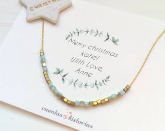 christmas gifts necklace for women long distance, Dainty choker necklace, 40th birthday, 30th birthday gifts for sister, personalised