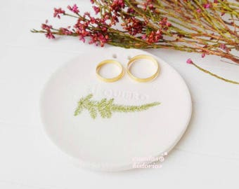 Porta alianzas rústico, plato anillo novia, plato compromiso, plato dama honor, regalos compromiso, para mejor amigo, único