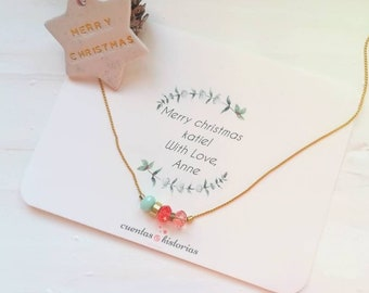 christmas gifts necklace for women long distance, 1st anniversary gift, 30th birthday gifts, gift, daughter in law gift, 40th birthday gifts