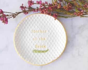 Madre novia regalo de hija, plato porta anillos, mama regalos de hija, madre novio regalo de novia, futura suegra regalo