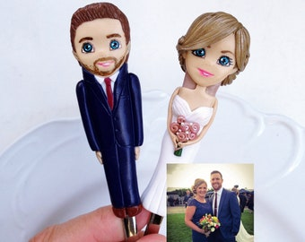 Personalized Wedding Couple Cake Topper Dessert Forks Couple Gift Bride and Groom Figurines Decoration Handmade Wedding Gift Amazing Gift