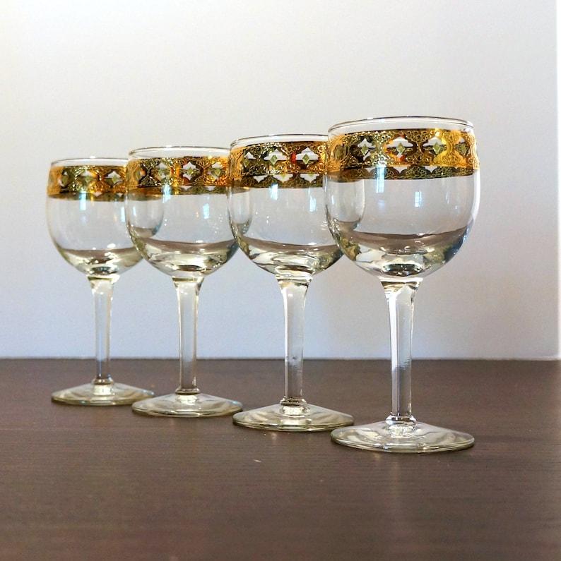 Valencia Wine Glasses Culver Glass s 1960s Vintage Stemware 4 image 0
