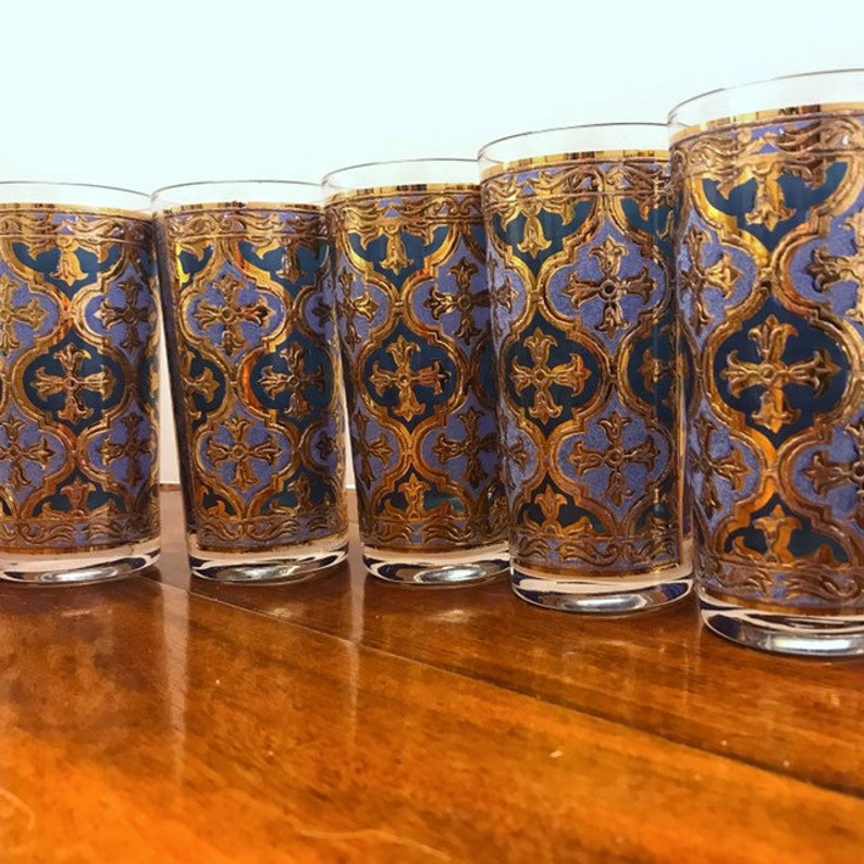 Georges Briard Bar Glasses 1960s Vintage Barware Firenze 5 image 0