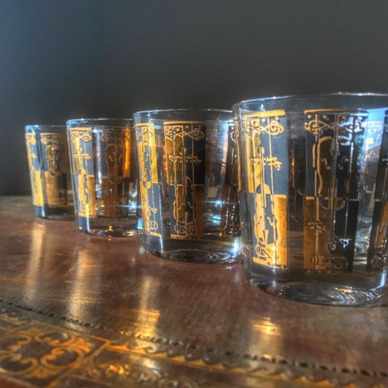 Georges Briard 1960s Vintage Barware Set 4 Musical Themed image 0