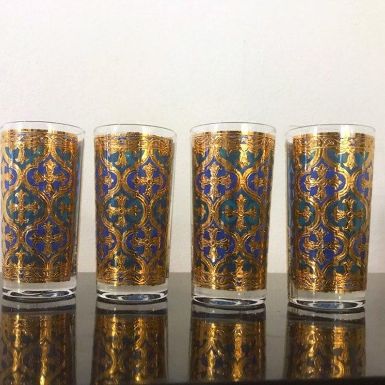 Georges Briard Glassware Vintage Barware Firenze Firenza 4 image 0