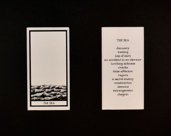 The Sea - Matted Fantod Cards By Edward Gorey