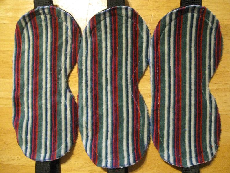 3 Masks Sleep Eye Travel Blindfold Dark New Aid Shade Fleece velour striped