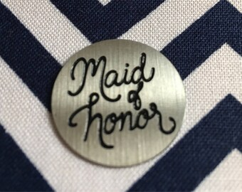 Maid of Honor Locket Plate for 30mm Large Living Locket