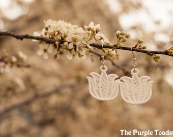 Spring Tulips Earrings Made-to-Order
