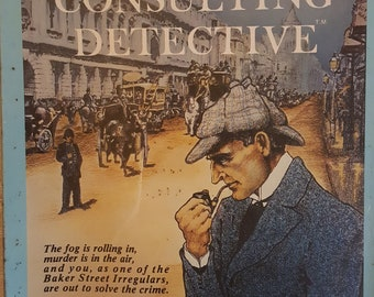 1995 Sherlock Holmes Consulting Detective board game includes all the twists and turns that you would expect from any Holmes-inspired game