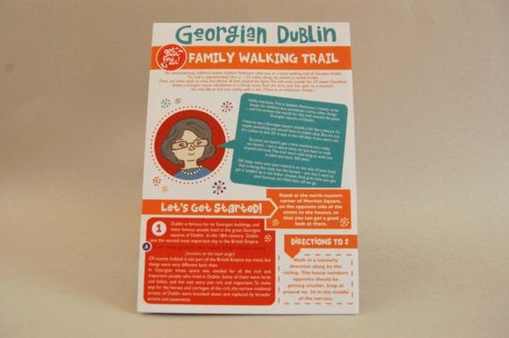 Dublin, Ireland: Printable Digital Kids Activity Walking Trail, Georgian Architecture