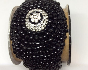 Handcrafted Beaded Cuff Bracelet