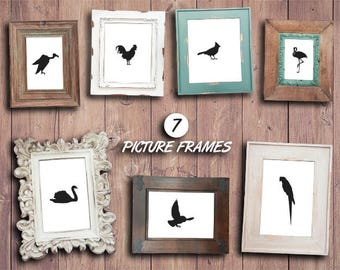 Rustic Frame Clipart Shabby Photo Frames Color
