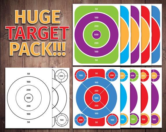 photograph regarding Printable Shooting Targets 8.5 X 11 identified as bulls eye printable, capturing aim, focus educate, foam dart aim, toy concentration, bulls eye train, capturing wide range, bulls eye