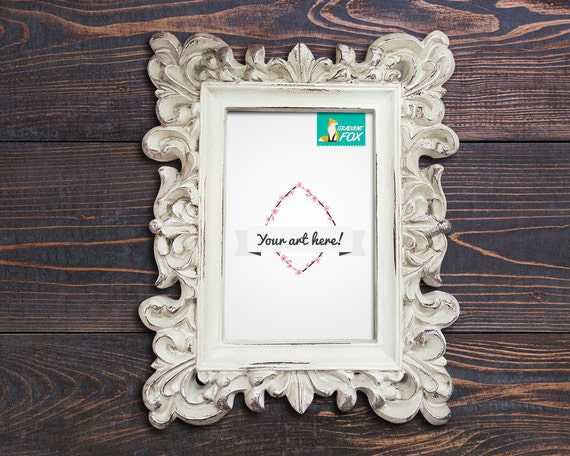 shabby frame mockups styled frame mockup 8x10 frame mockup | Etsy