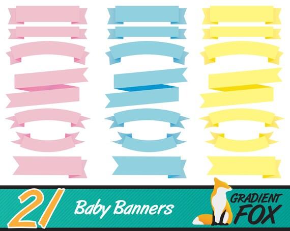 21 Birth Announcement Baby Banner Clipart Baby Shower Etsy
