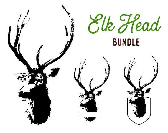 Deer Head Clipart Deer Head Set Svg Scrapbook Cut File - Buffalo Plaid Deer  Svg, HD Png Download - vhv
