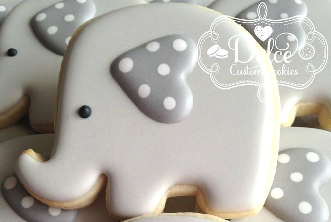 Elephant Baby Shower Cookies | Etsy