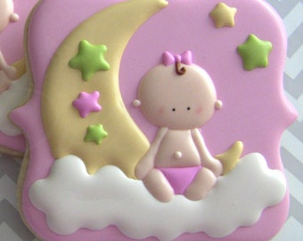 Baby Shower Cookies To The Moon and Back
