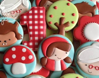 Little Red Riding Hood Birthday Cookies