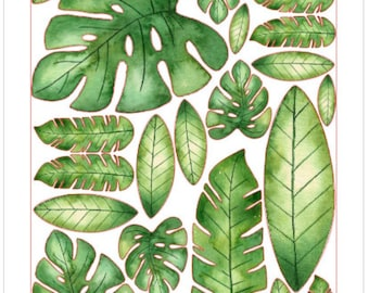 Tropical Leaf Edible Cut-Outs