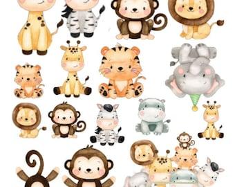 Safari Animals Edible Cut-Outs