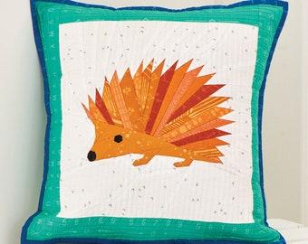 Foundation Paper Pieced Hedgehog Envelope Back Pillow Pattern
