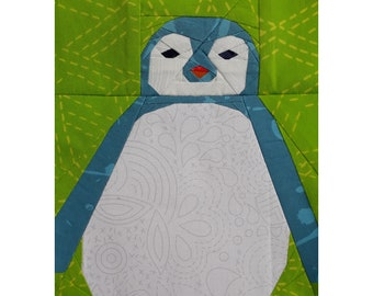Penguin Chick Foundation Paper Pieced Quilt Pattern