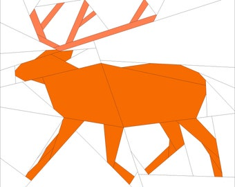 Reindeer Foundation Paper Pieced Quilt Pattern